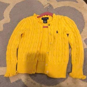 Girls Ralph Lauren yellow sweater